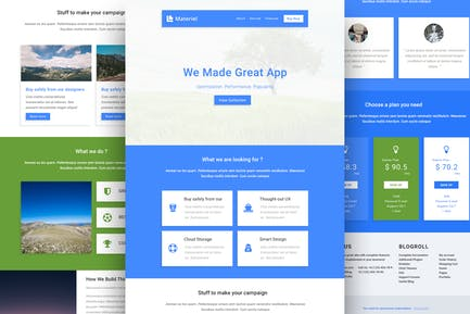 Material - Responsive Email Template + Online Buil