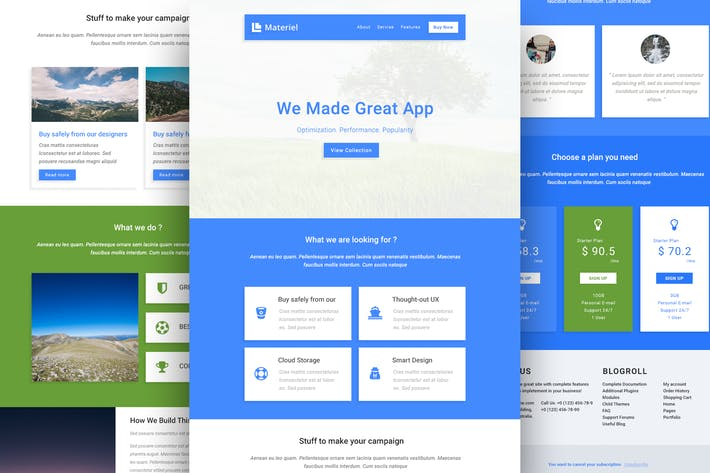 Thumbnail for Material - Responsive Email Template + Online Buil