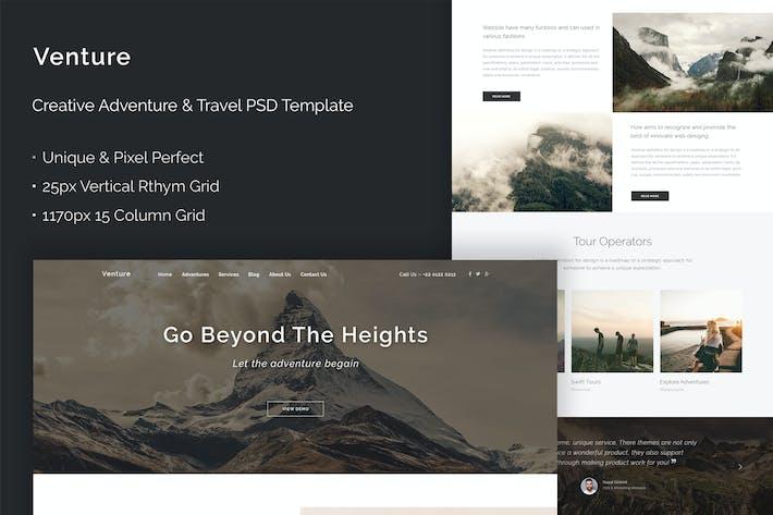 Thumbnail for Venture - Creative Adventure & Travel PSD