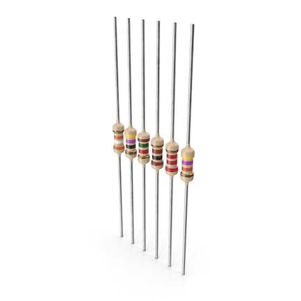 Набор осевых свинцовых металлических пленочных резисторов