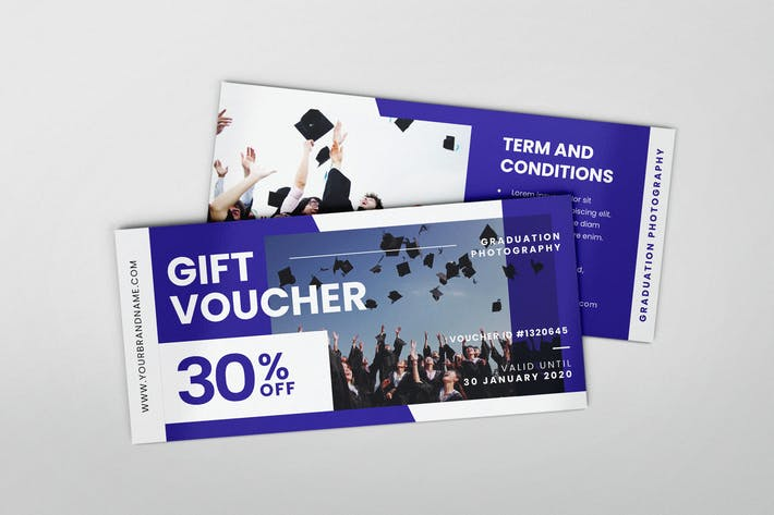 Cover Image For Graduation Photoshoot AI and PSD Gift Voucher
