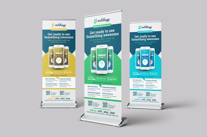 Cover Image For Mobile App Promotion Roll-up Banner