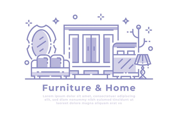 Thumbnail for Furniture and Home Illustration