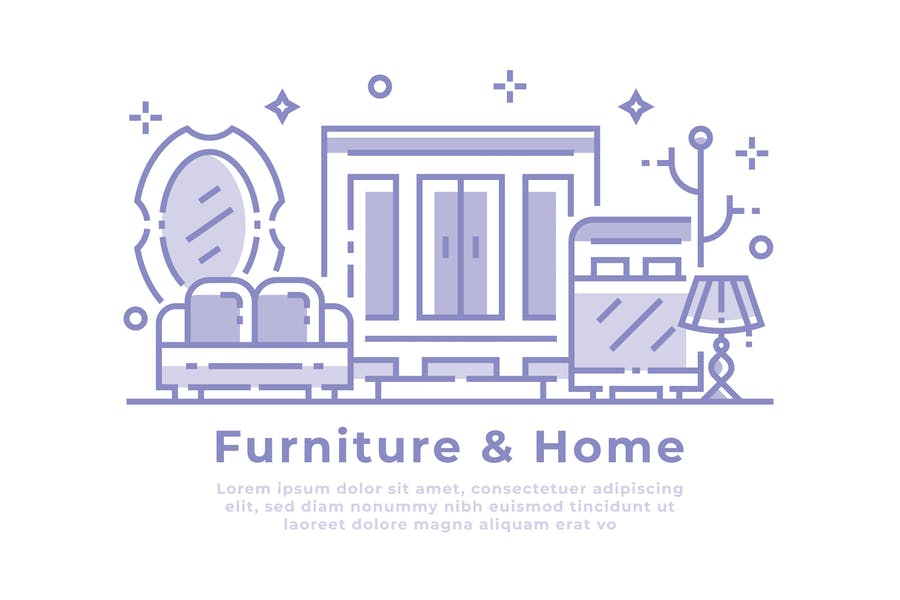 Furniture and Home Illustration