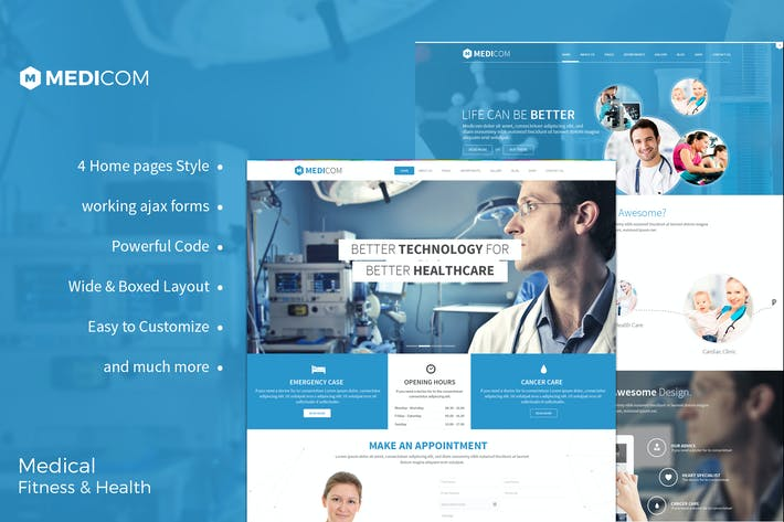 Download Hospital Website Templates Envato Elements - Medical website templates