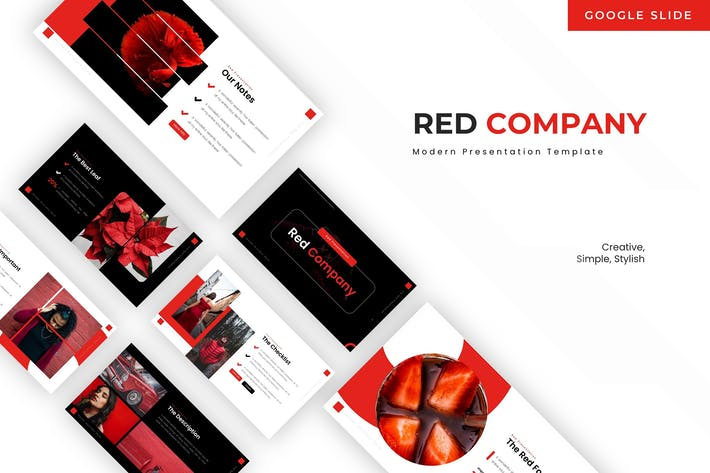 Red Company - Google Slide Template