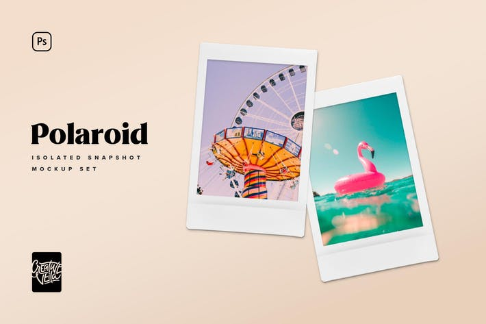 Thumbnail for Polaroid Snapshot Picture Mock-up Templates