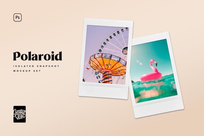 Cover Image For Шаблоны макет снимков Polaroid