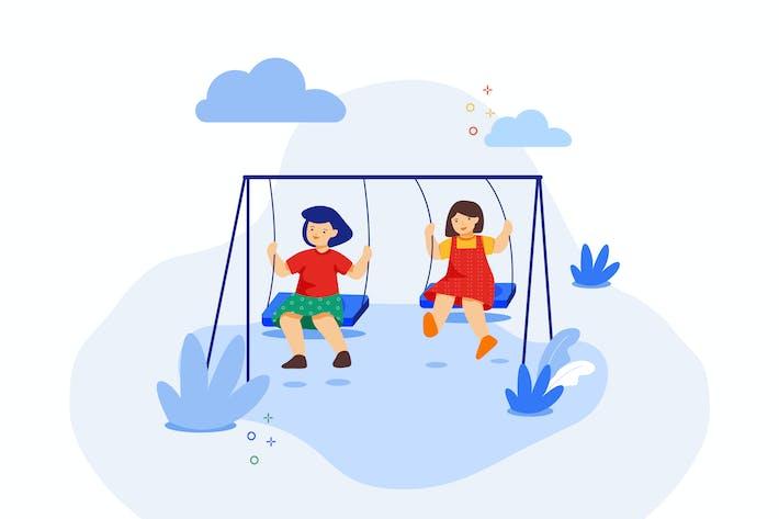 Thumbnail for Kinder spielen