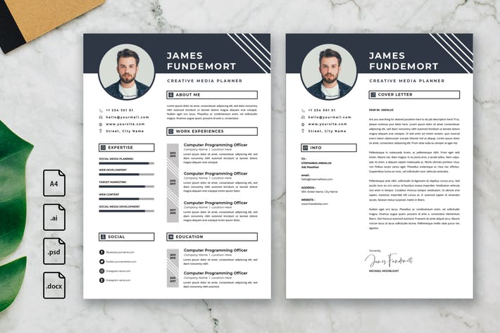 Thumbnail for Professional CV And Resume Template James