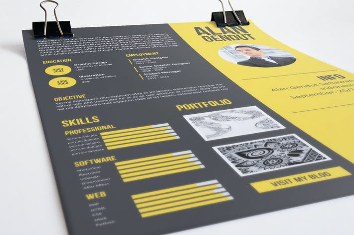 Cover Image For Modern Resume Template