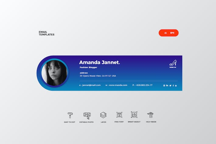 Cover Image For Email Signature Template