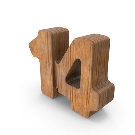 14 Wooden Number