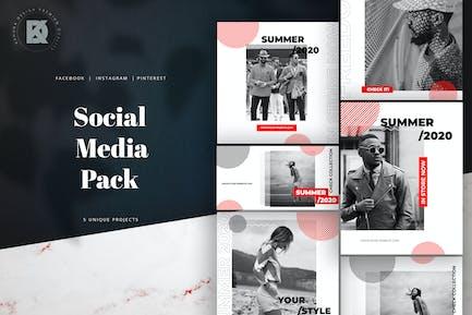 Black & Red Social Media Pack