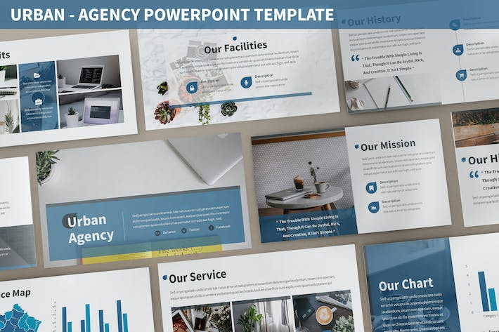 Thumbnail for Urban - Agency Powerpoint Template