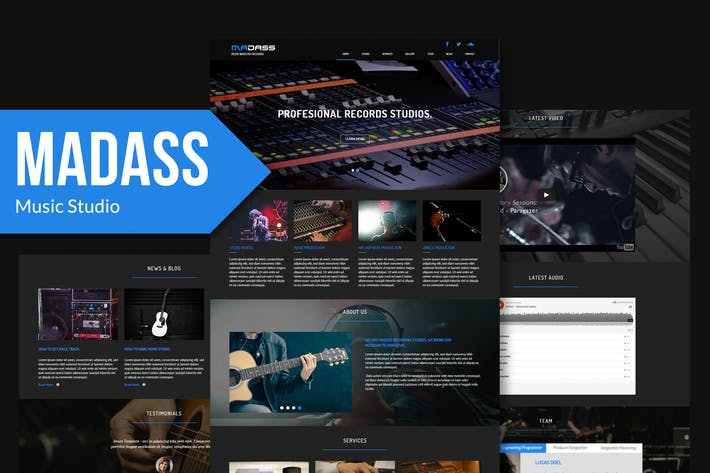 Thumbnail for Madass - Music Industry Muse Template