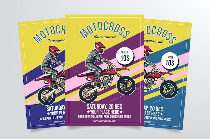 Thumbnail for Motocross Tournament Flyer Template