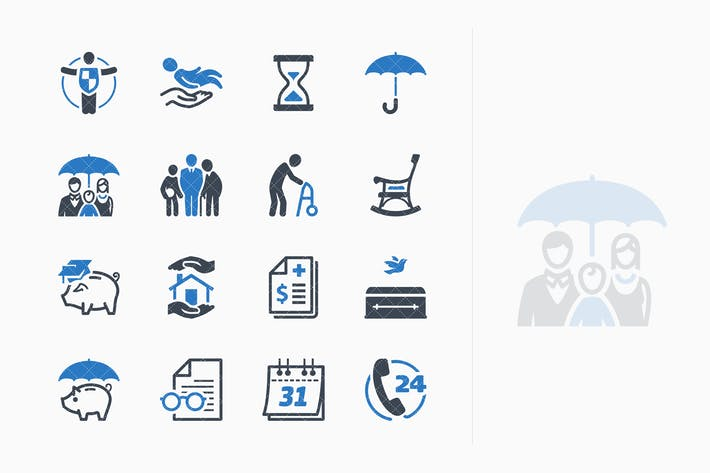 Thumbnail for Life Insurance Icons - Blue Series