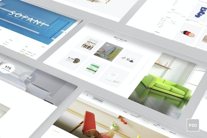 Thumbnail for Sofani - Furniture Store PSD Template