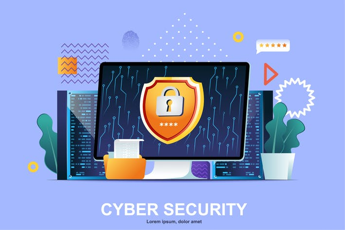 Thumbnail for Cyber Security Flat Concept Vector Illustration