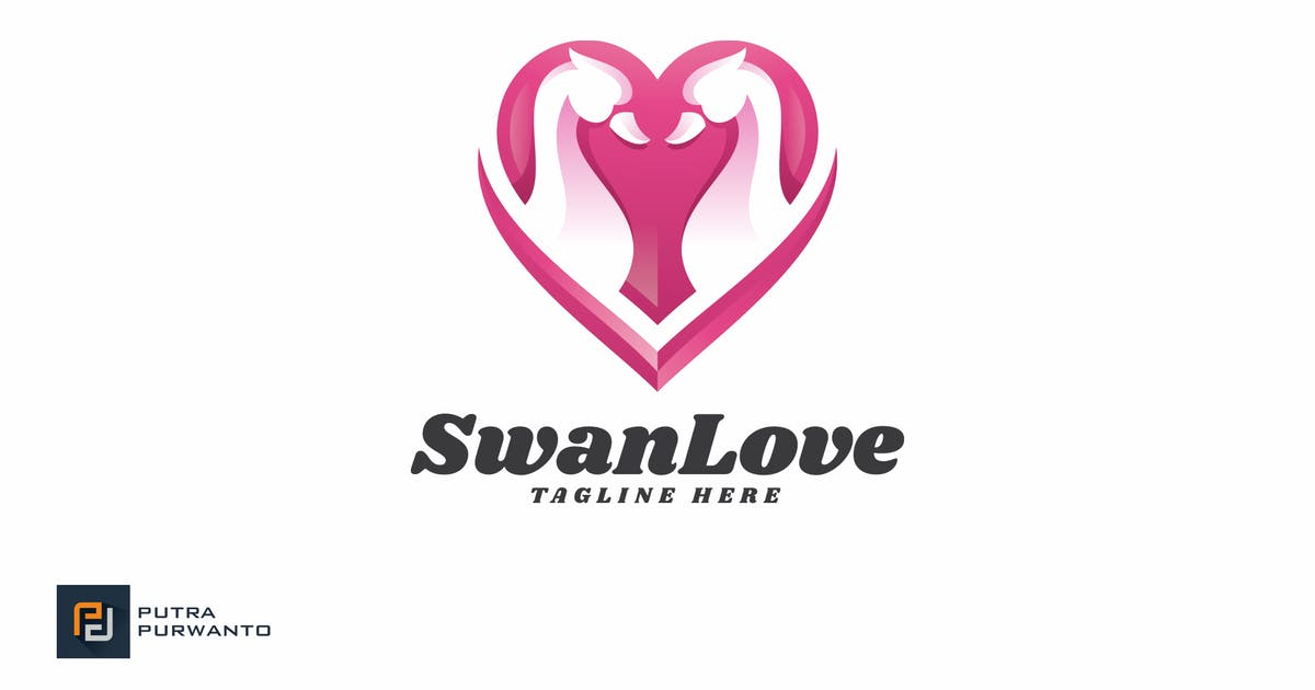Download Swan Love - Logo Template by putra_purwanto
