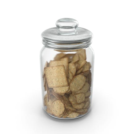 Jar with Mixed crackers