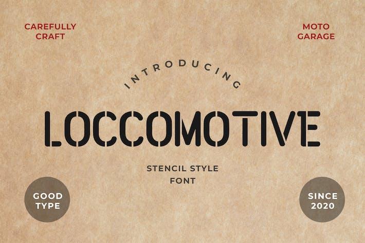 Loccomotive Stencil Font