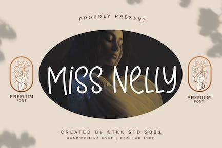 Miss Nelly - Girly handwriting font