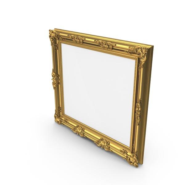 Big Golden Baroque Picture Frame