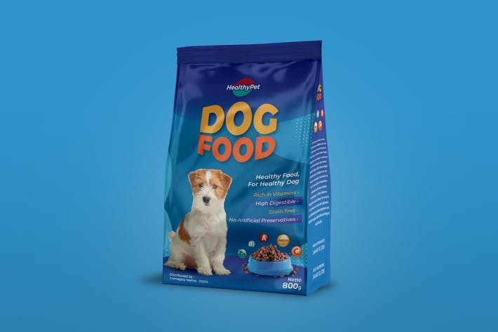 Conception d'emballage alimentaire pour animaux de compagnie