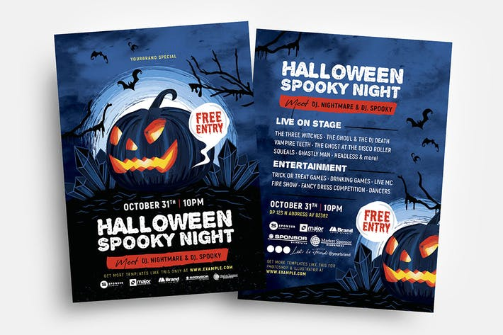 Halloween Flyers/Table Tent