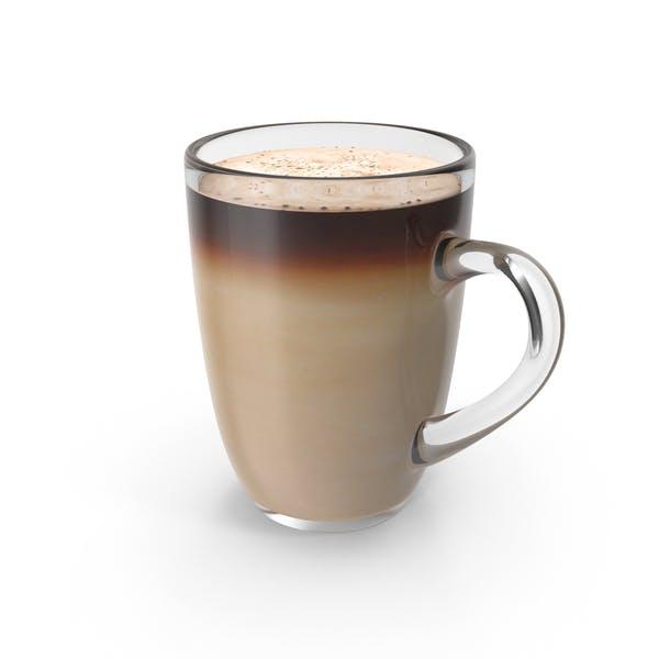 Thumbnail for Большая стеклянная кофейная чашка с молоком