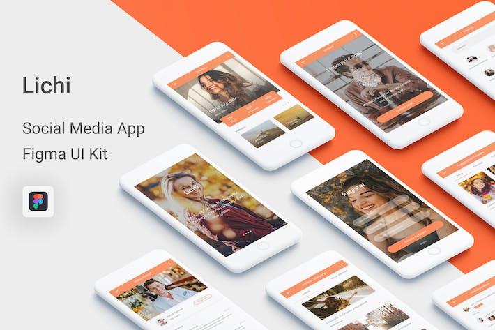 Thumbnail for Lichi - Social Media UI Kit for Figma