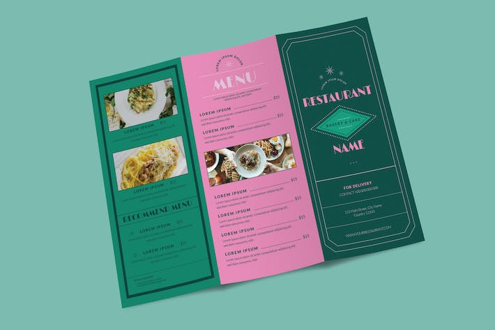 Thumbnail for Trifold Brochure Menus Layout