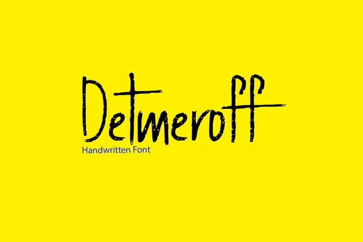 Thumbnail for Detmeroff - Unique Handwritten / Display Font