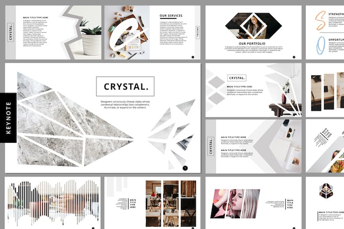Thumbnail for Crystal - Keynote Template