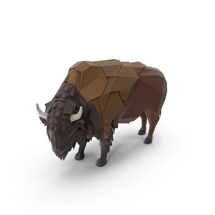 Low Poly Buffalo
