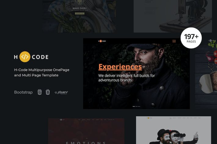 Thumbnail for H-Code Multipurpose OnePage & Multi Page Template
