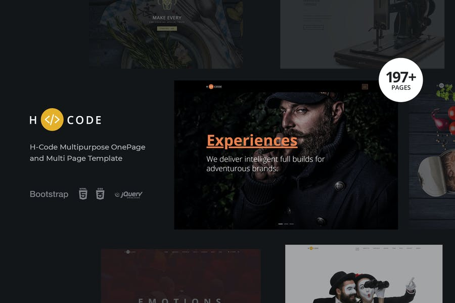 H-Code Multipurpose OnePage & Multi Page Template - product preview 4