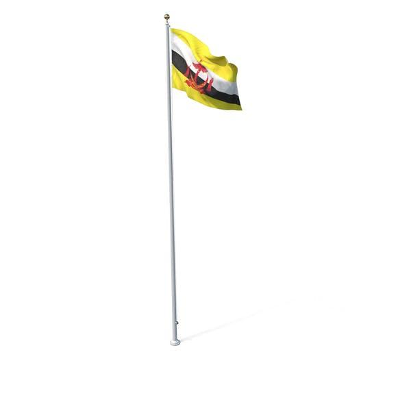 Thumbnail for Flag On Pole Brunei