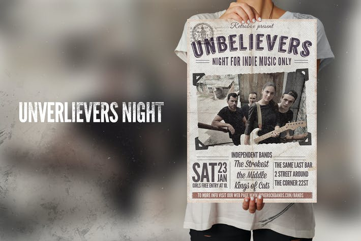 Thumbnail for Unbelievers Night Flyer Poster