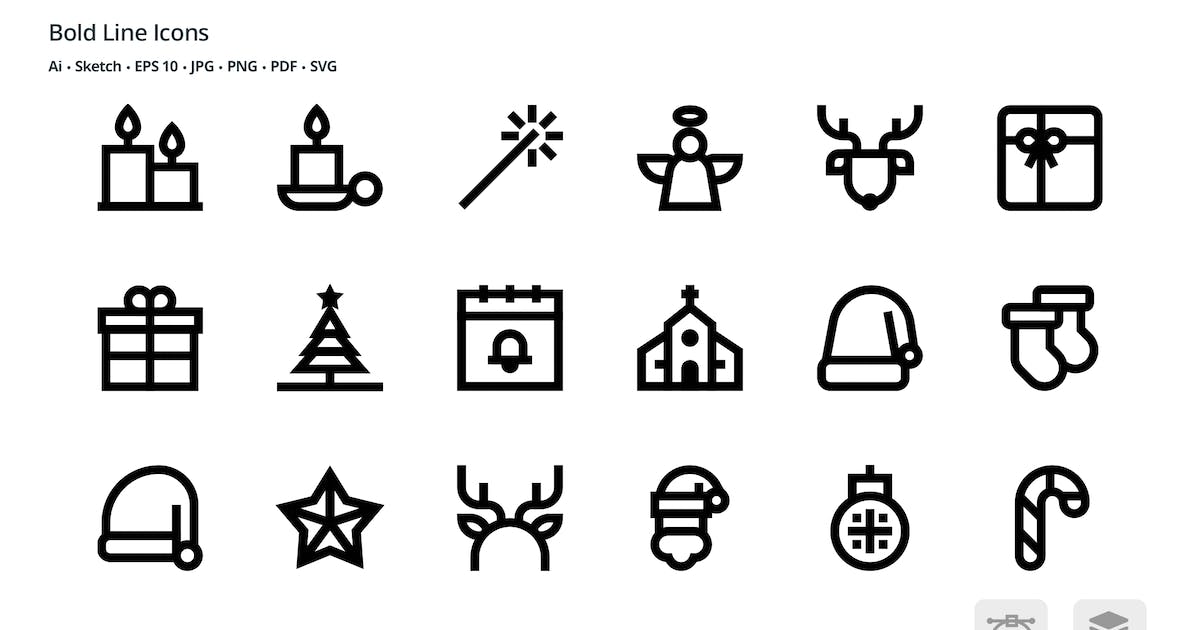 Download Christmas Celebration Bold Line Vector Icons by roundicons