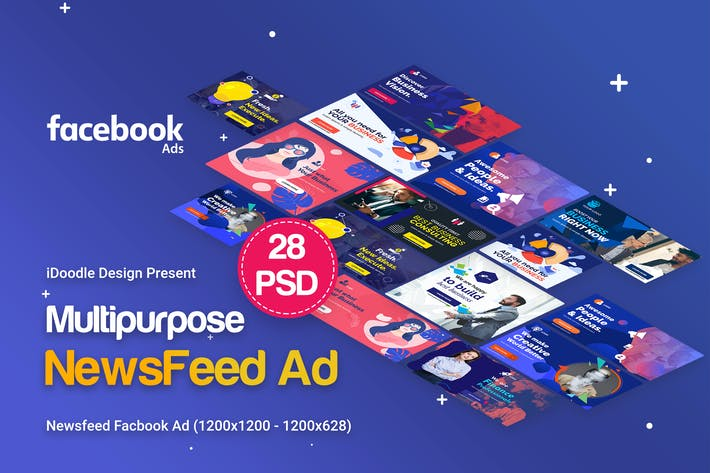 Thumbnail for NewsFeed Facebook Multipurpose, Business Banners