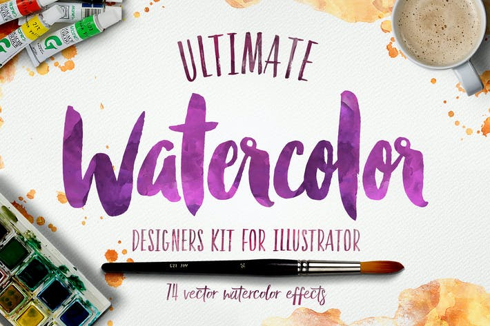 Thumbnail for Watercolor KIT for Illustrator