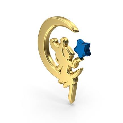 Goldene Fee-Symbol-Symbol