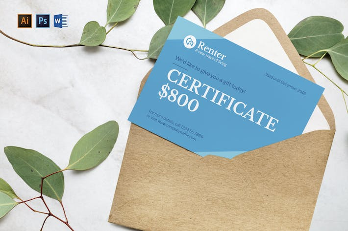 Vacation Rental Gift Certificate