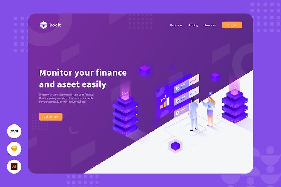 Increasing Income - Website Header Illustration