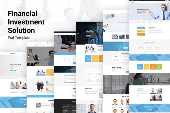 Thumbnail for Financial Solutions - Business PSD Template