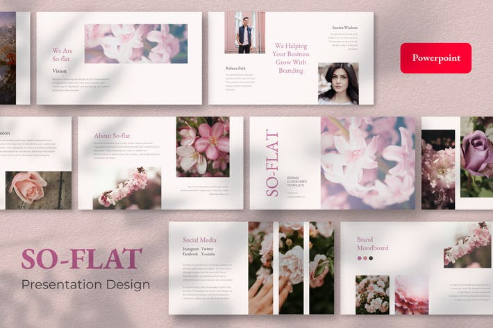 So-flat- Powerpoint Presentation Design Template