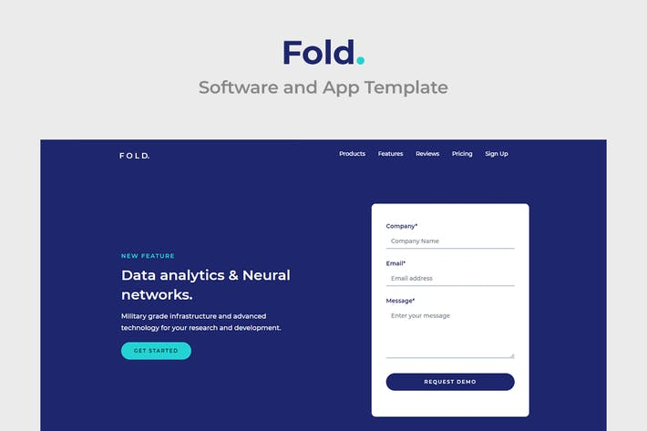 Thumbnail for Fold - Multipurpose Software and App Template